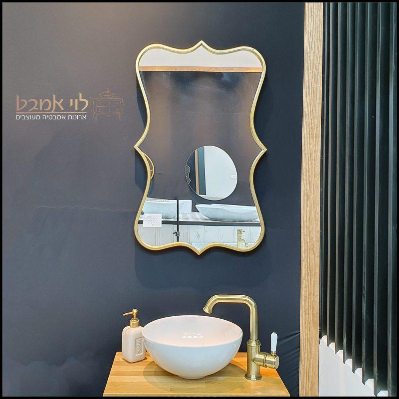 מראה ברונזה מעוצבת לארון אמבטיה